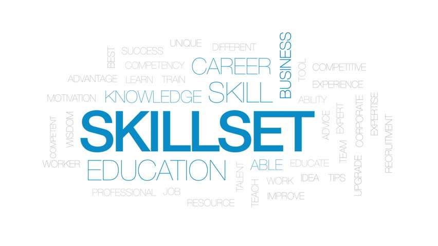 Skillset animated word cloud, text design animation. Kinetic typography. | Shutterstock HD Video #26162075