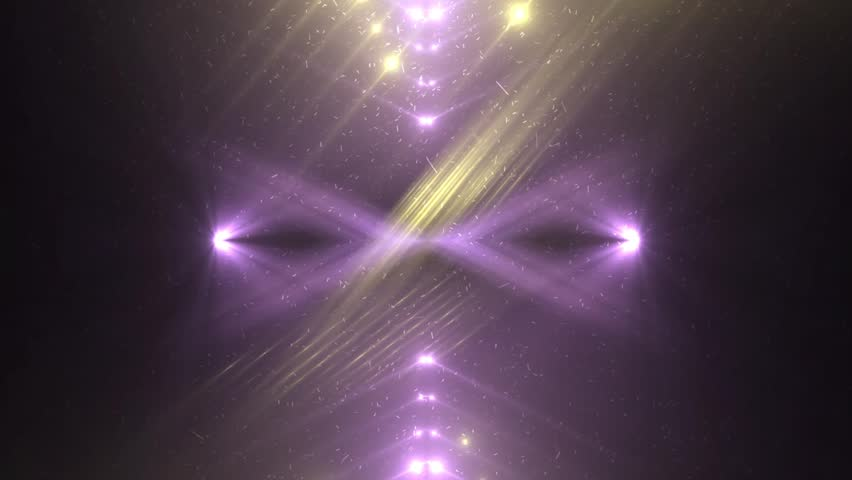 Fractal violet and gold abstract background. Movement of colored rays with disco spectrum lights on black background. Light Tunnel. VJ Footage seamless loop. For background fashion show | Shutterstock HD Video #26186474