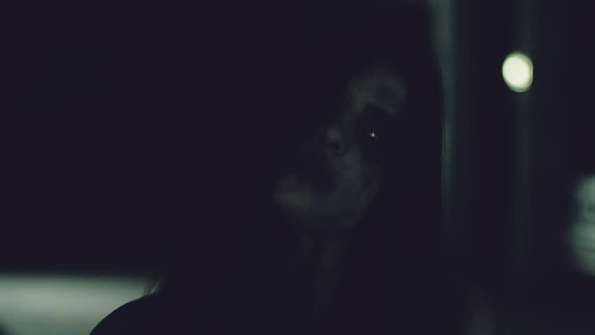 Female zombie chasing man slow motion | Shutterstock HD Video #26192306