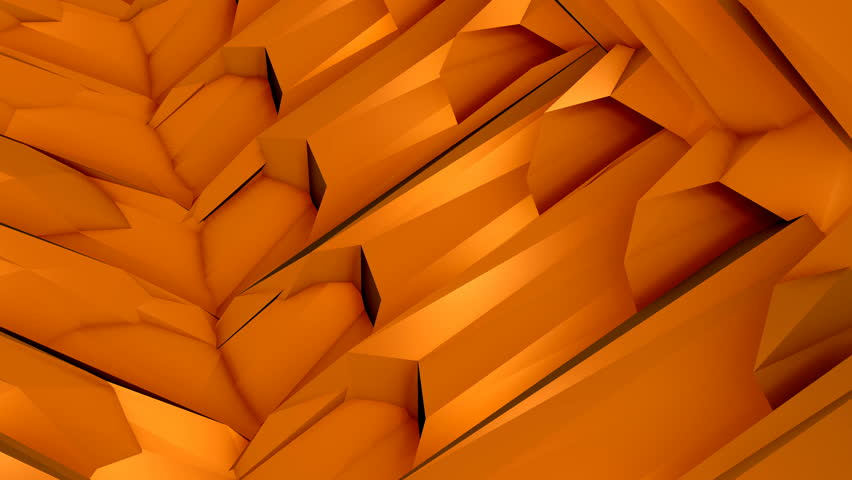 Perfectly seamless (no fade) loop features a complex orange animation pattern, perhaps resembling machinery parts, rotating and twisting. | Shutterstock HD Video #26214941