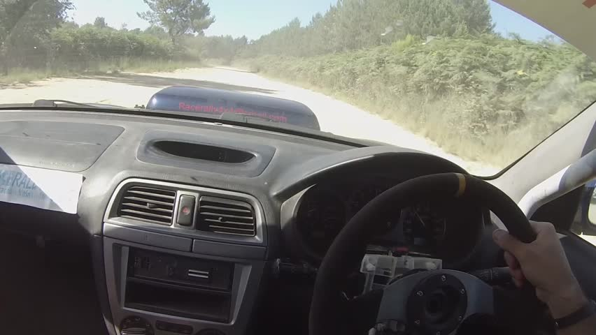 FPV GOPRO interior shot of rally driver making a mistake turning into a corner | Shutterstock HD Video #26216993