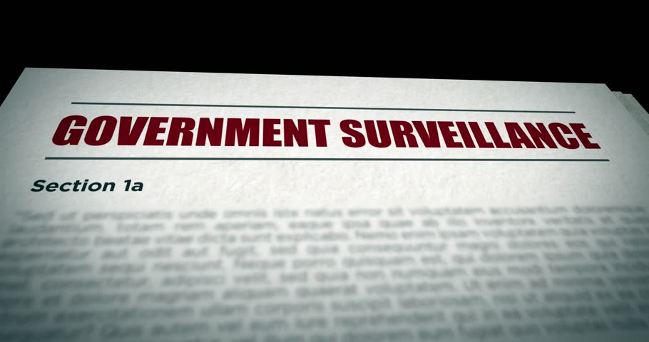 Camera pans over Government Surveillance government Bill document | Shutterstock HD Video #26218892