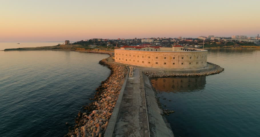 Aerial view of Konstantinovsky Ravelin in Sevastopol bay, Crimea | Shutterstock HD Video #26222582