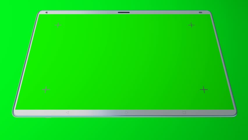 White tablet computer with isolated green screen on green background | Shutterstock HD Video #26230700