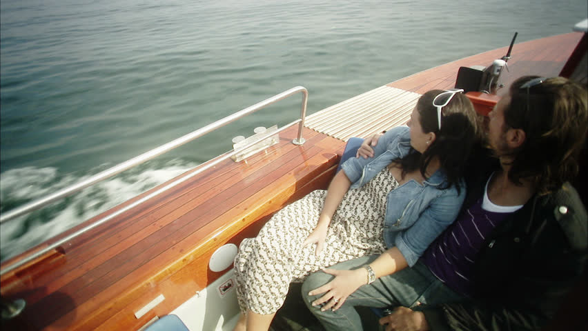 Young couple enjoying in boat #2630405