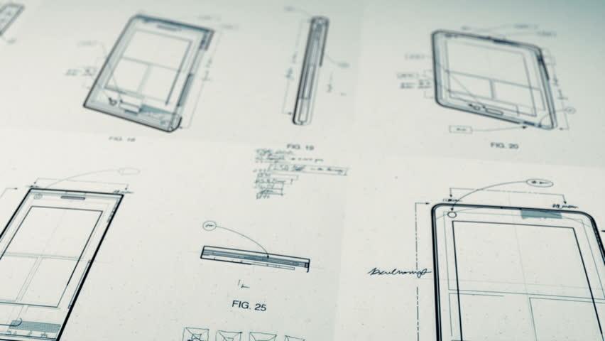 Technology Patents Drawing Animation