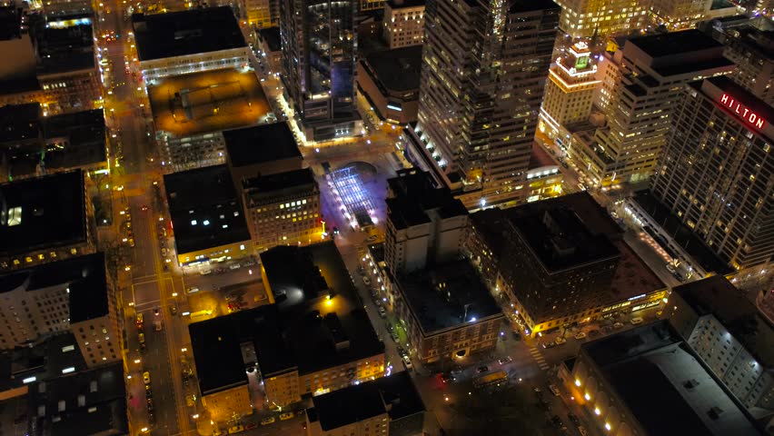 Aerial Oregon Portland Nigh | Shutterstock HD Video #26553845