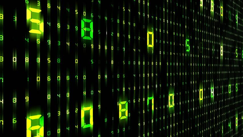 Digital world data space number text.   Shutterstock HD Video #26609177