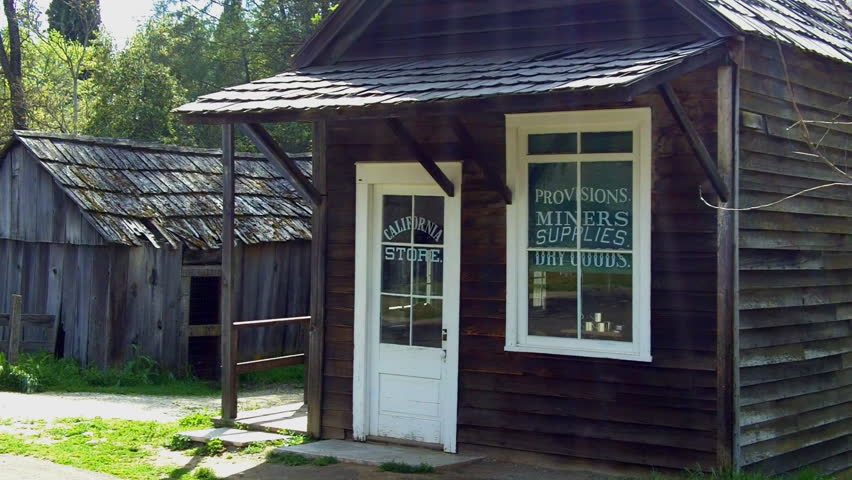 COLUMBIA, CA - MAY 15: An historic miner supply shop at Columbia State Historic