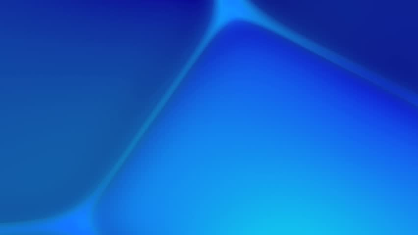 Abstract CGI motion graphics and animated background with blue moving shapes - HD stock video clip