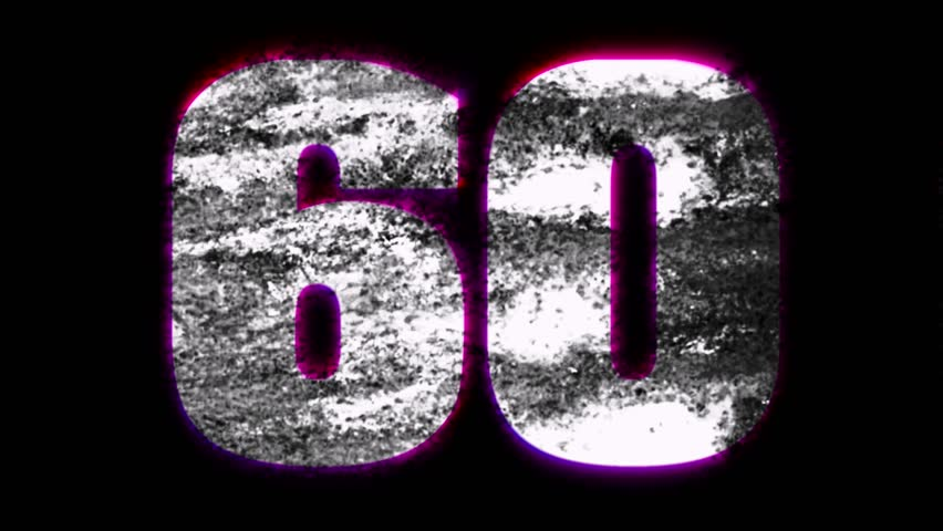 Grungy white numbers pink border ticking randomly | Shutterstock HD Video #2701208