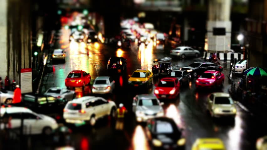 Night Traffic Bangkok Intersection - Timelapse | Shutterstock HD Video #2715671