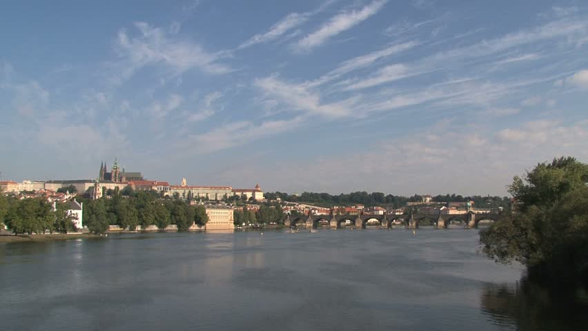View from the Legion Bridge, Prague | Shutterstock HD Video #2741555