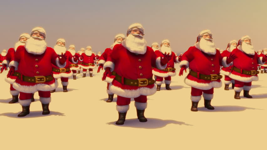Santas dancing | Shutterstock HD Video #2756684