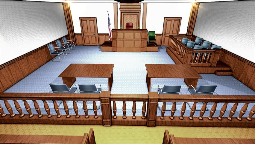 USA courtroom - HD stock video clip