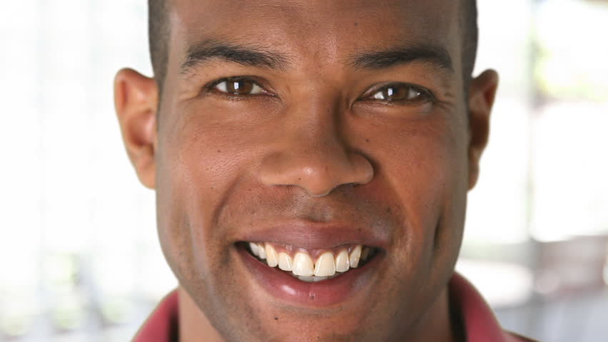Closeup portrait of smiling African American man's face #2760329