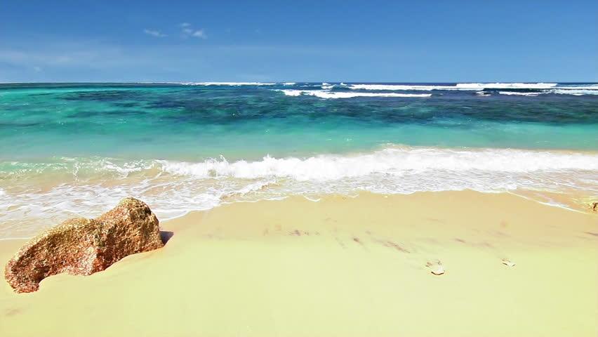 Ocean beach loop - HD stock footage clip