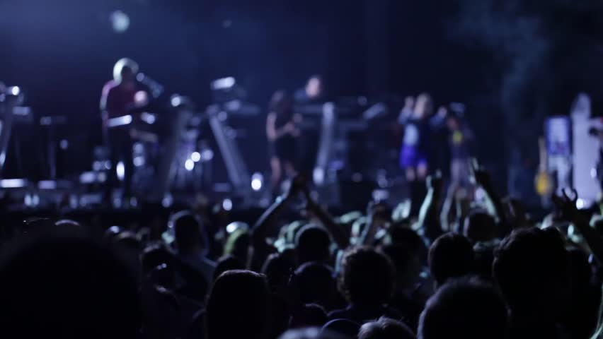 anonymous crowd at a dance concert - HD stock footage clip