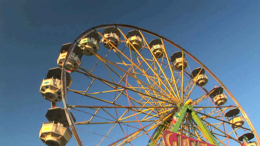 Carnival ferris wheel, Clark county fair, Washington - HD stock footage clip