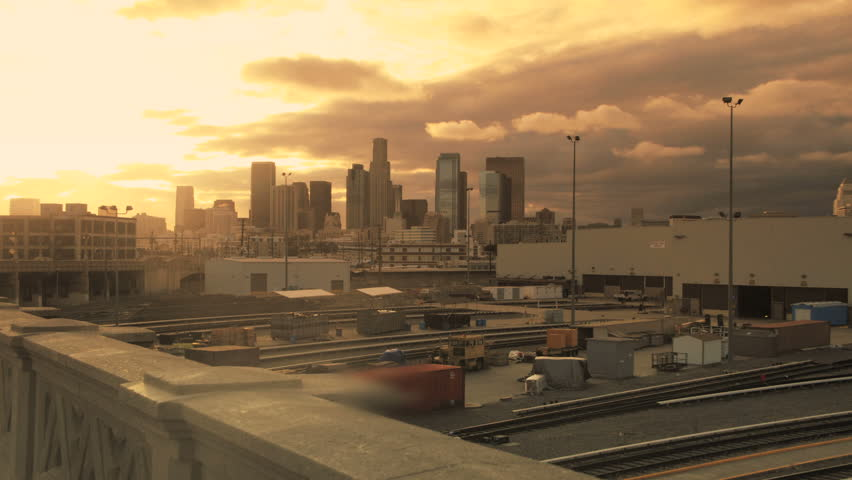 Los Angeles Sunrise Skyline Time lapse