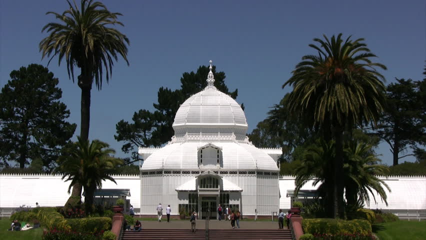 Conservatory of Flowers 05 - HD stock footage clip