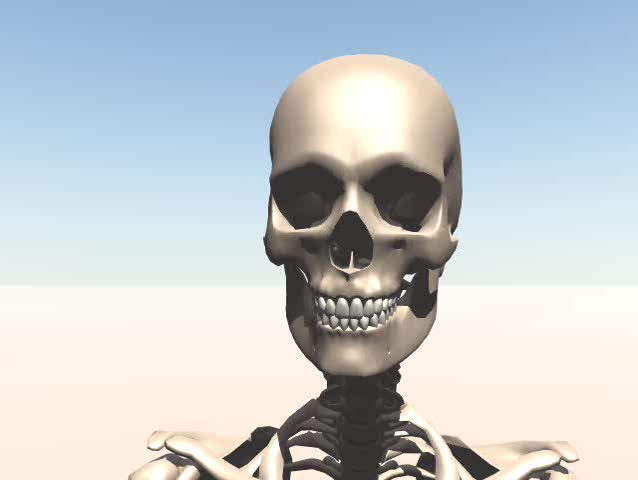 A walking skeleton. - SD stock video clip