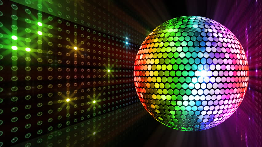 A Colorful Reflective Disco Ball With Glinting Highlights