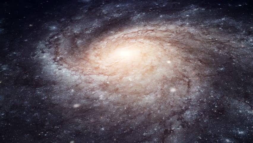 Rotating spiral galaxy - deep space exploration