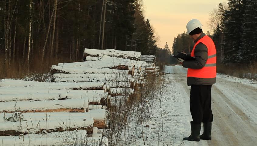 Lumberjack number of log pile