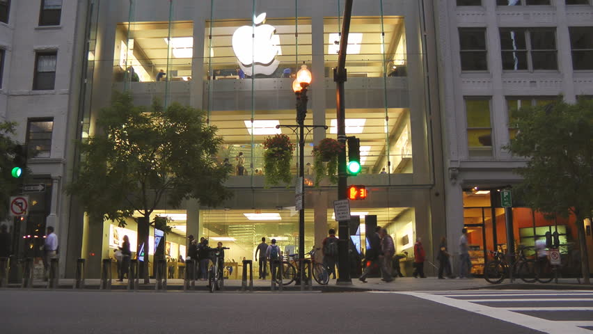 BOSTON - SEPT 24: Apple iPhone 5 goes on sale, demand for iPhone 5 exceeds the initial supply, Apple retail stores quickly sell out, September 24, 2012, Boston MA.