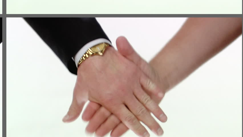 Take eachhooter hand. Sequence of handshake shoots