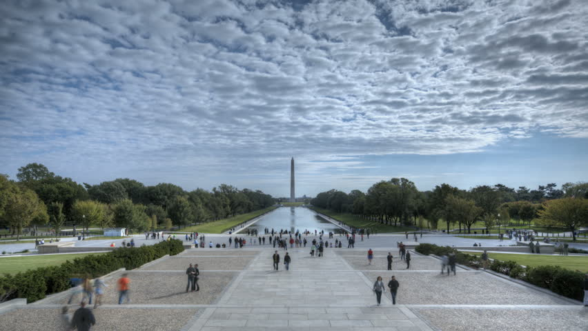 WASHINGTON D.C. - OCT 14: Timelapse of Tourists visiting Washington Lincoln