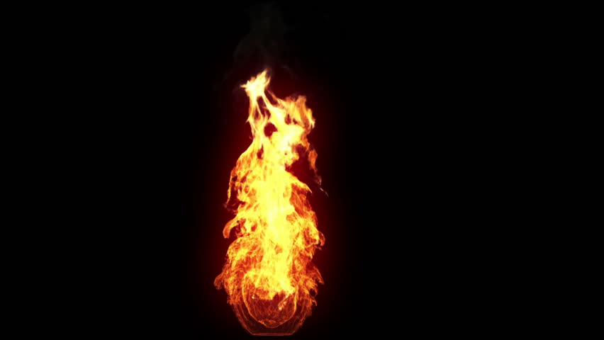 Burning torch, alpha, loop