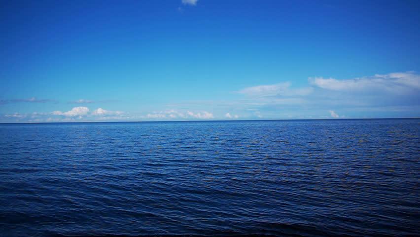 Sea view to horizon high definition video #3290051
