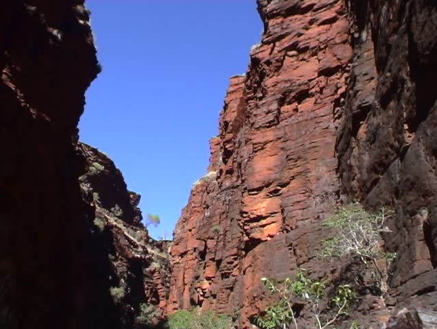 2-shots of the cliffs of Karijini National Park, Western Australia.