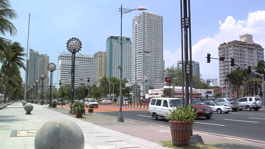 Roxas Boulevard and the High Rising Buildings of Malate, Manila, Philippines