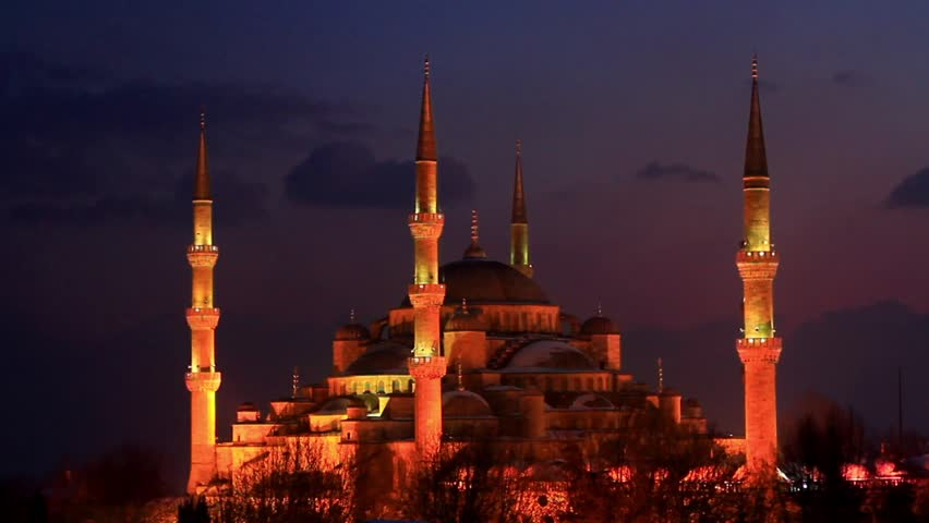 High Definition Time Lapse Video Of The Blue Mosque In ...