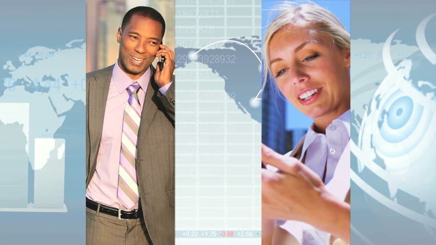 Montage image of global city business scenes CG graphics display, modern technology