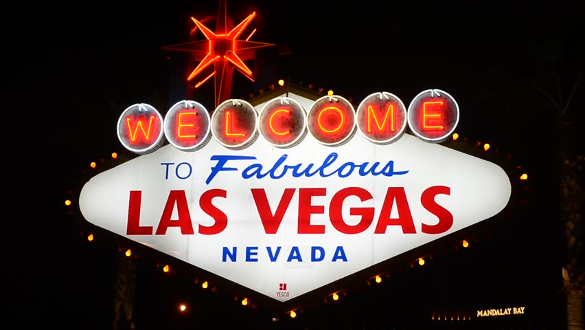 LAS VEGAS - JAN 24: The Welcome to Las Vegas Sign on January 24, 2013 in Las Vegas, Nevada. Las Vegas in 2012 is broke the all-time visitor volume record of 39-plus million visitors