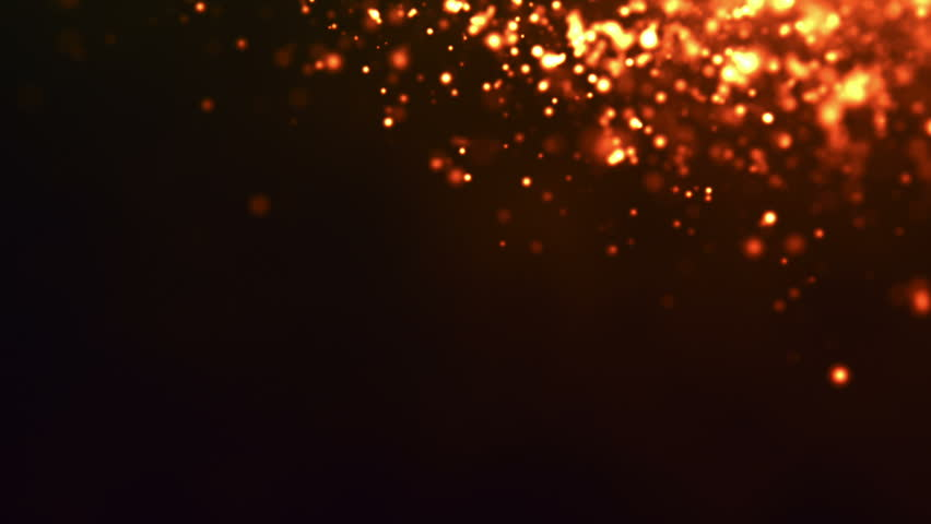 Abstract bokeh golden particles - HD stock video clip