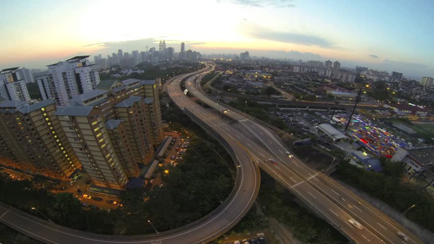 Time Lapse of Kuala Lumpur City, Malaysia during sunset - HD stock video clip