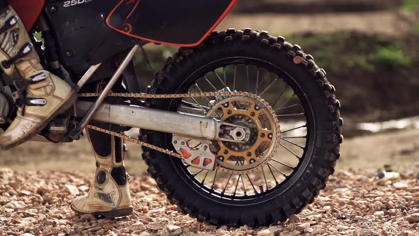 Motocross Wheel Spin Super Slow Motion  #3344591