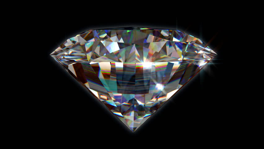 Seamless turning 3D Brilliant Diamond - High Definition - HD stock video clip