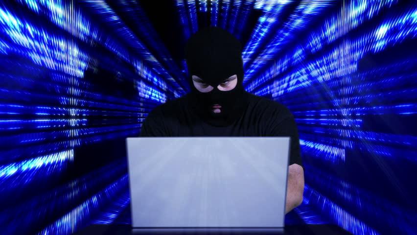 Nervous Hacker Working Table Tunnel BG 6