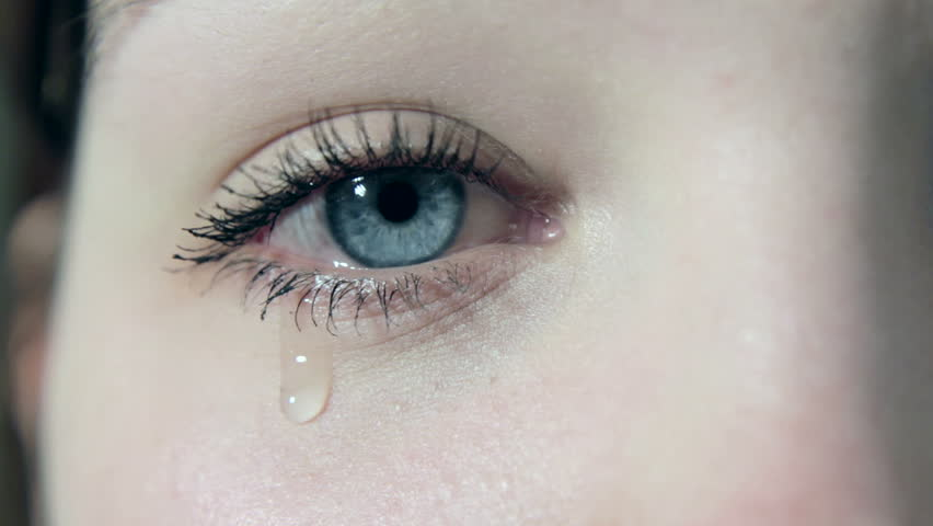 Tears in a female girl sad eye in 1080p | Shutterstock HD Video #3367604