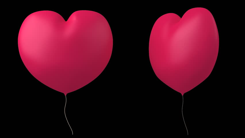 Balloon in the form of the heart.