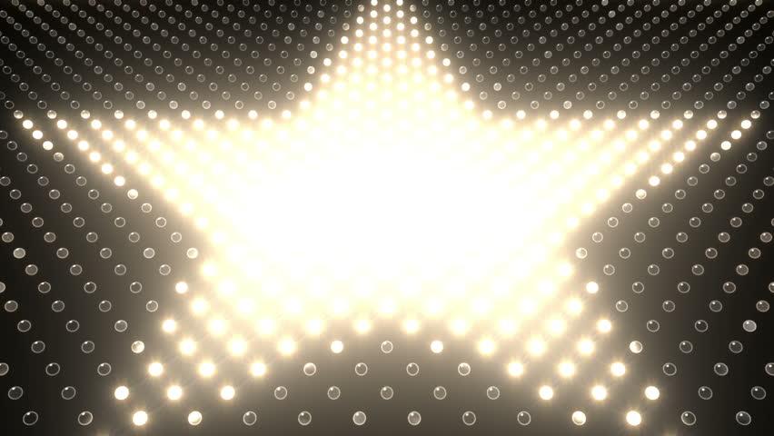 LED Light wall. Star. | Shutterstock HD Video #3393056