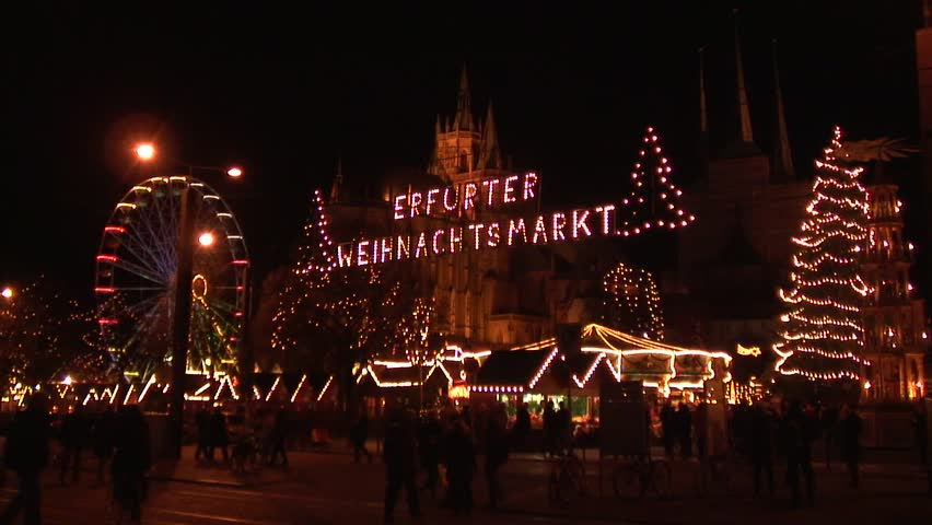 Christmas Market - HD stock footage clip
