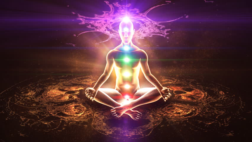 Yoga practice. Chakra activation and enlightenment. | Shutterstock HD Video #3451133