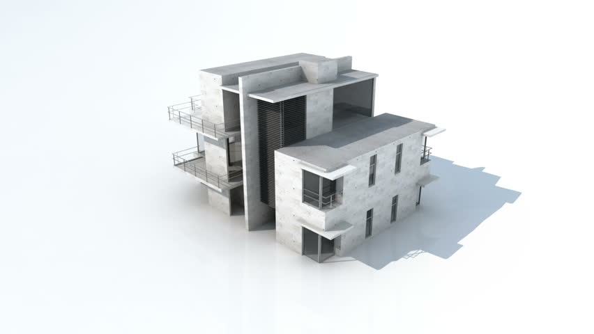 Rendering of a modern house